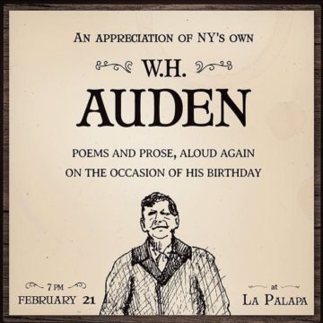 W.H. Auden Birthday Event on St. Marks Place.