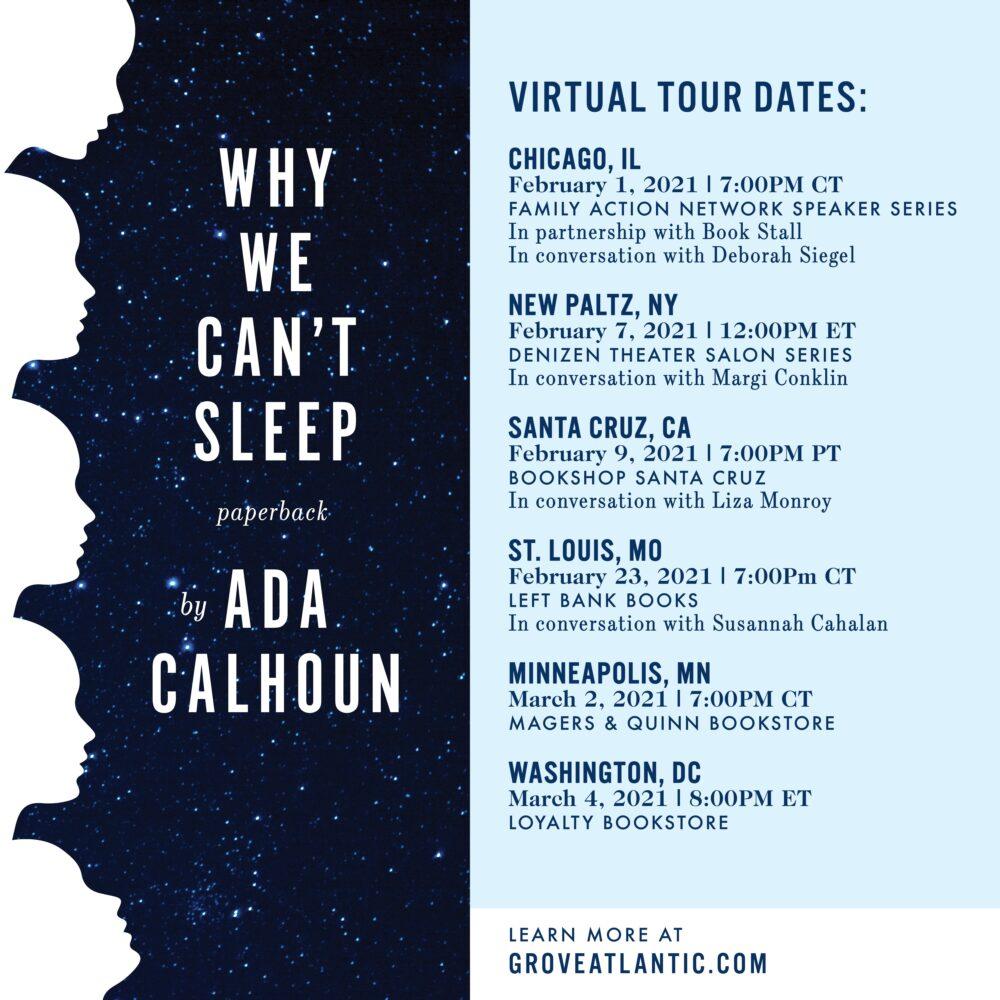 WHY WE CANT SLEEP pbk Tour Card-WHY WE CANT SLEEP pbk Tour Card