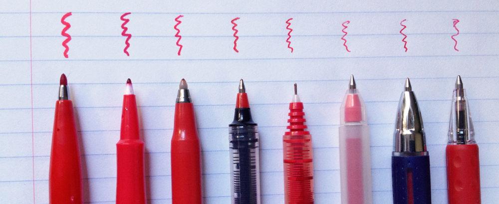 Red pens slider-Red pens slider