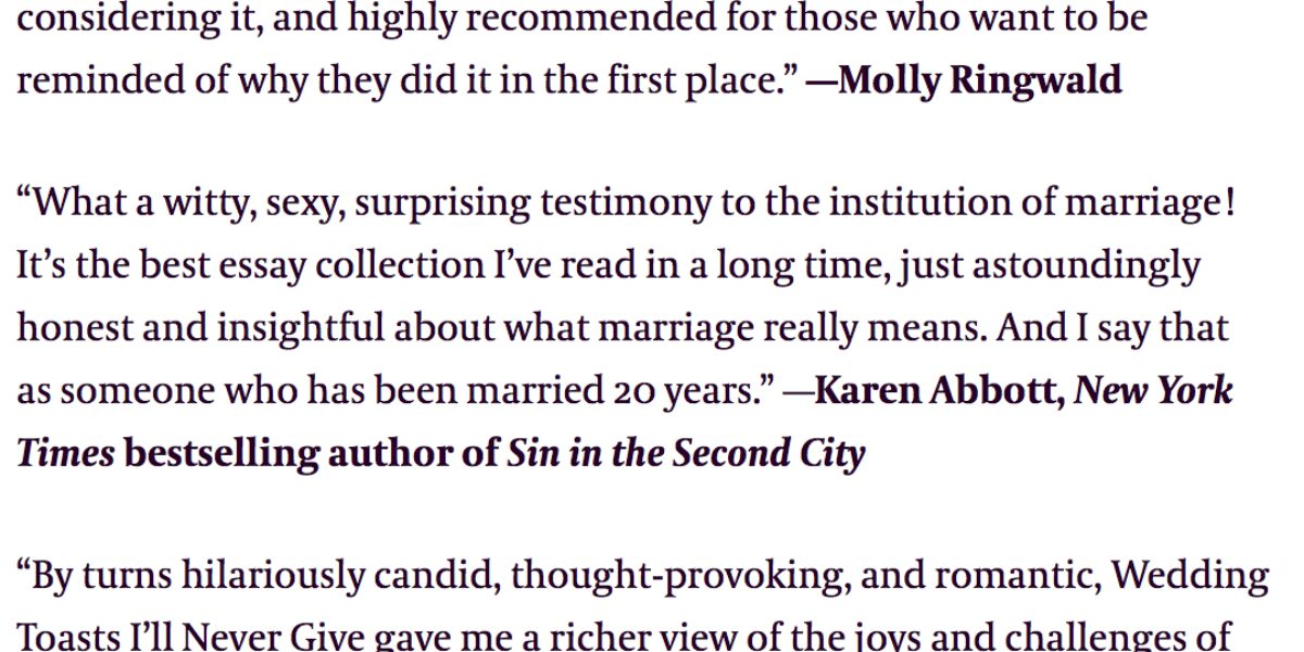 Best Wedding Toasts.Amazing Blurbs For Wedding Toasts I Ll Never Give Ada Calhoun